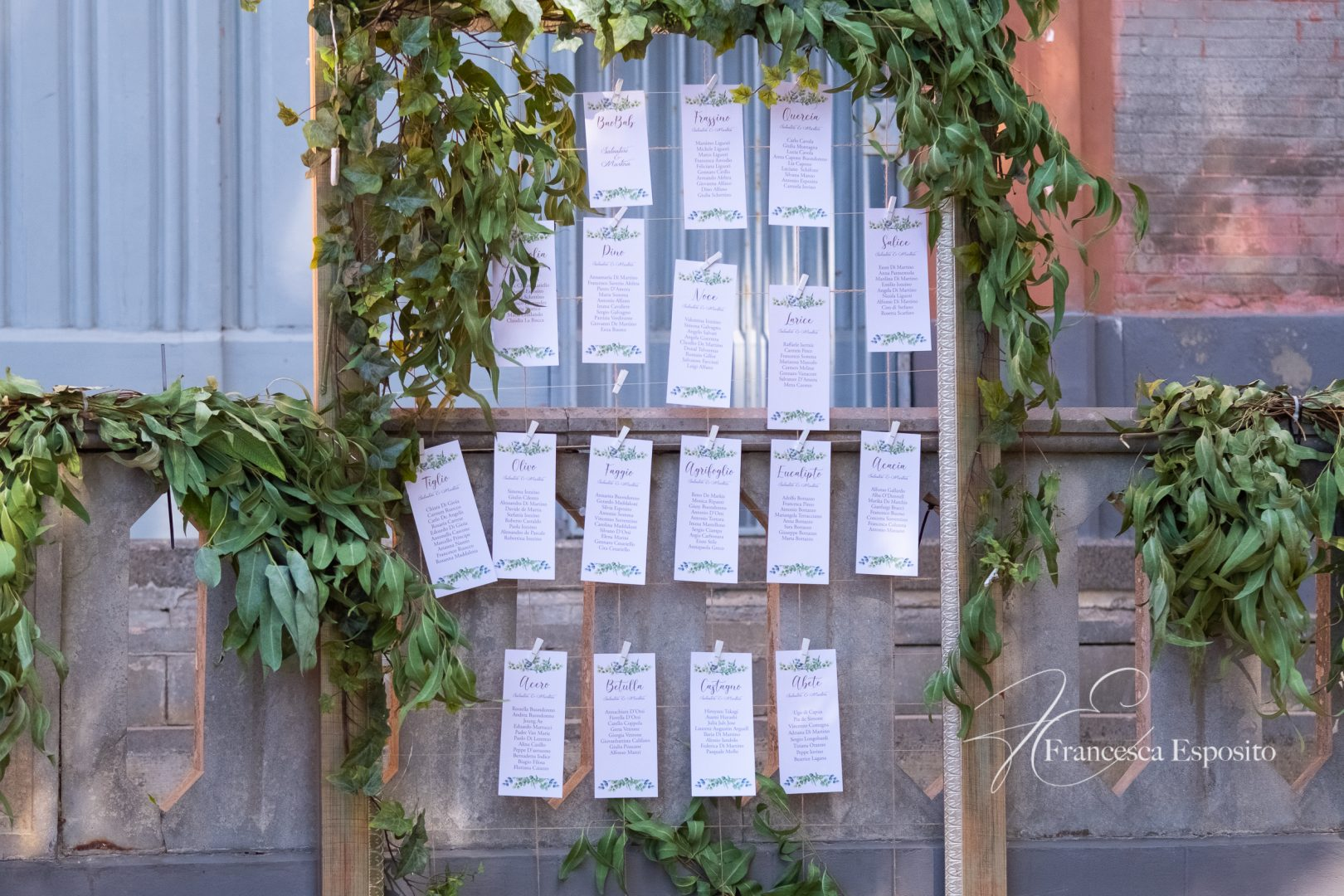 tableau de mariage idee foliage
